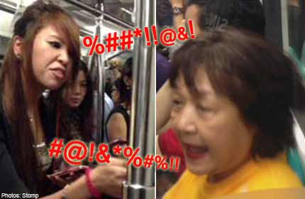 MRT Fight Over Seat – The Battle Of Older Auntie vs Young Girl